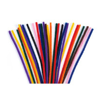"""Lot of 48 Chenille Craft Stems 12"""" Pipe Cleaners School Project Choose Color"""
