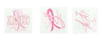 Lot of 72 Pink Ribbon Breast Cancer Awareness Inspirational Tattoos 39/2064