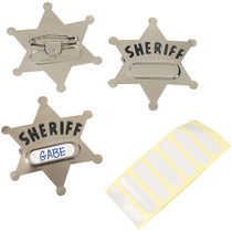 Sheriff Badges - 12 Count