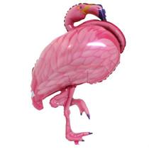 "XL 27"" Pink Flamingo Balloon Super Shape Mylar Foil Hawaiian Luau Party"