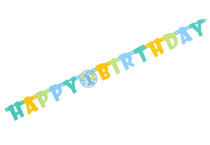 Boys Blue 1st Birthday Banner Party Decoration