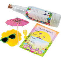Tropical Invitations in a Bottle - 12 Count
