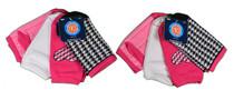 Lot of 8 Pairs Kids Source Girls Low Cut Socks Asst Pink Size 6-1 1/2