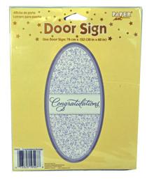 Congratulations Door Cover Sign