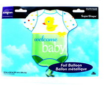 "XL 24"" Welcome Baby Bodysuit Mylar Foil Balloon Party Decoration"