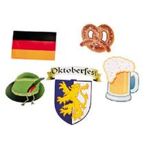 Lot of 12 Assorted Cardboard Oktoberfest Cutouts Beerfest Party Decorations
