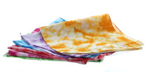 Lot of 12 Tie Dye Bandannas Assorted Bright Colors
