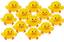 Lot of 12 Vinyl Yellow Duck Inflatable Beach Balls Party Favors