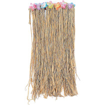Natural Raffia Flowered Hula Skirt
