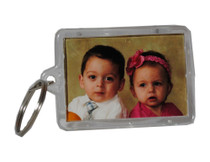 Picture Frame Key Chains Lot of 12 Clear Acrylic Photo Transparent Keychains