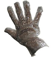 Michael Jackson King of Pop Silver Sequin Glove