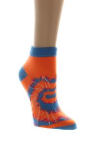 Lot of 12 Tye Dye Socks Everbright Womens Low Cut Ankle Sz 9-11