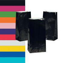 Paper Party Favor Treat Bags 12 Count - Choose Your Color