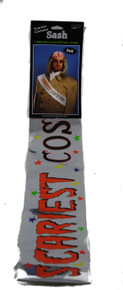 Halloween Costume Party Scariest Prize Award Sash Foil