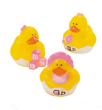 24 Mini Baby Girl Rubber Duck Duckys Pink Shower Favors