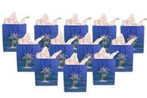 Medium Blue Luau Gift Bags Palm Tree Beach Wedding Set of 12