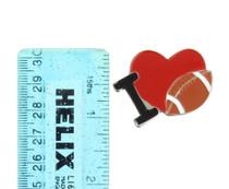 Set of 12 I Love Football Metal Pins Favors