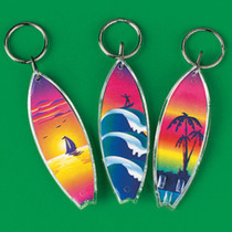 Lot of 12 Surfboard Keychains Luau Pool Party Favors