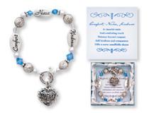 Nurse Kindness Comfort Silver Charm Bracelet Gift Boxed