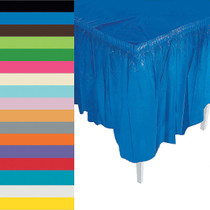 Plastic Pleated Table Skirt 14' - Choose Your Color