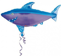 "XL 41"" Shark Super Shape Mylar Balloon Luau Beach Party Decoration"