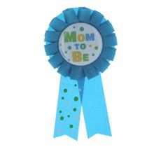 Blue Mom To Be Baby Shower Award Ribbon Polka Dots Party Supplies