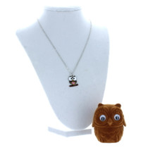 Owl Crystal Pendant Necklace With Velour Gift Box