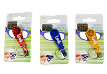 Lot of 3 Microfiber Keychain Eyeglass Cleaner Wipe Red Blue Yellow