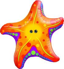 "XL 30"" Starfish Super Shape Mylar Foil  Balloon Luau Beach Party Decoration"