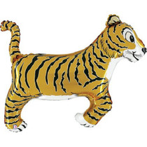 "XL 41"" Tiger Super Shape Mylar Foil Balloon Jungle Safari Party Decoration"