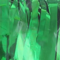 "Green Metallic Foil Fringe Table Skirt 144"" x 30"" Party Decoration"