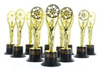 Movie Buff Gold Trophy Set - 12 Pack