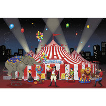 Circus Carnival Backdrop Wall Poster Banner 9'