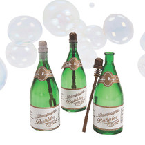 Mini Champagne Bottle Bubbles - 24 Pack