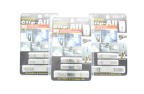 3M Clip-All Stainless Steel Spring Clips Adhesive Back Peel & Stick 9 Clips