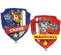"""AnagramNickelodeon Paw Ptrol XL 27"""" Mylar Foil Balloon 2 Sided Chase & Marshall"""