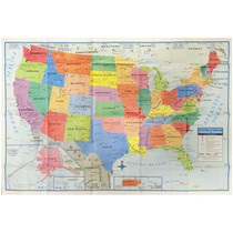 "United States Wall Map US USA Poster 40"" x 28"""