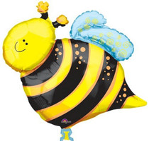 "XL 25"" Bumble Bee Garden Picnic BBQ Super Shape Mylar Foil Balloon Party"