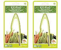 EZ-Peel Vegetable Peeler Lot of 2 Easy Grip Kitchen Tool
