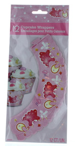 It's A Girl Clothesline Cupcake Wrappers Lot of 12 Pink Baby Girl Shower Party