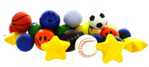 Stress Ball Toy Assortment Lot of 25 Squeezable Relief Party Favors