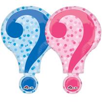 "28"" Question Mark Gender Reveal Anagram XL Super Shape Mylar Foil Balloon"