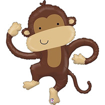 "40"" Linky Shapes Monkey Buddy Betallic XL Mylar Foil Balloon"