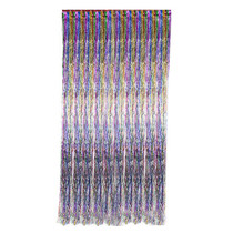 Rainbow Metallic Fringe Curtain Party Room Decor 3' x 8'