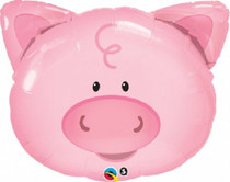 "XL 30"" Playful Pig Super Shape Mylar Foil Balloon Party Decoration"