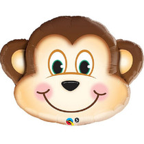Large Monkey Mylar Balloon Zoo Animal Party Decoration 35""