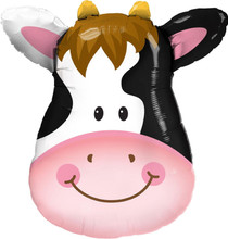 "XL 32"" Contented Cow Super Shape Mylar Foil Balloon Party Decoration"
