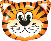 "XL 30"" Tickled Tiger Super Shape Mylar Foil Balloon Party Decoration"