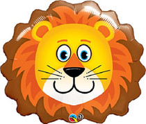 Lion Head Mylar Foil Balloon Zoo Animal Party Decoration XL 29""