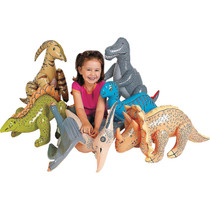 Inflatable Jumbo Dinosaurs - 6 Pack